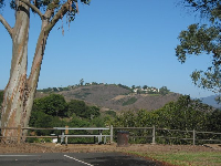 The great views from picnic tables at the top of Escondido Park.