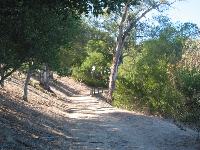 The peaceful trail at Escondido Park.