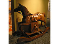 The huge rocking horse.