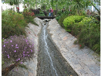 The stream that runs through the Sound Garden.