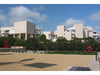 The Getty, as seen from the Sculpture Garden.