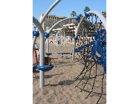 Rope-climb at the playground at Ventura Pier.