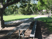 Picnic table at Willowglen Park.