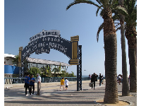 Entrance to the pier.