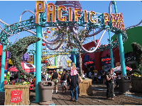 Pacific Park, the amusement park on the pier.