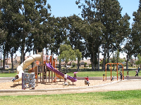 The playground is a popular spot.