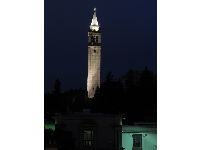 The Campanile at night, from Hotel Durant.