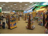 The huge kids section upstairs in Barnes and Noble.