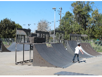The skate park at the YMCA on Skyway Dr.