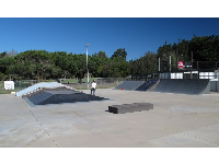 The YMCA Skate Park in Santa Maria, next to Waller Park on Skyway Drive.