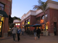 Nighttime at the Downtown Center.