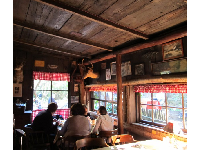 Inside the restaurant.