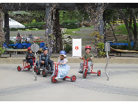 The tricycle course- a real hit with kids.