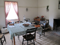 The kitchen in the commanding officer's quarters.