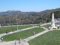 View over the front lawn and astronomers' monument.