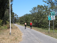 The bike path near Walnut Lane, where there is an entry point.