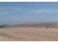 The dunes are continually resculpted by wind and waves.