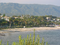 View of Leadbetter Beach from Shoreline Park.