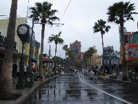 Sunset Boulevard leads to the Tower of Terror.