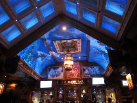 Inside House of Blues Restaurant.