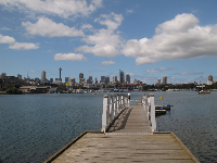 Dock at Blackwattle Bay Park.