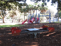 See-saw and play structure.