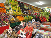 Fruit market on Glebe Point Rd.