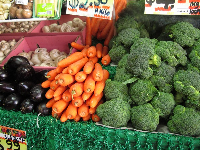 Fresh veggies- there are lovely shops on Glebe Point Rd!