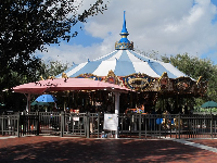 The carousel is pretty.