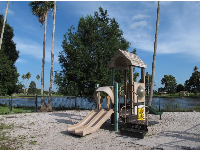 Playground beside the lake.