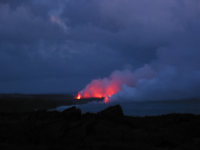 More red lava flowing into the sea!