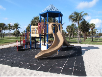 The playground across A1A from the beach.