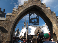 The gates to Harry Potter's land...so wonderful!