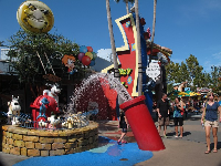 Water play in Toon Lagoon.
