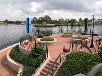 There are plenty of quiet places to take a break at Epcot.