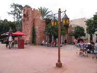 Lamppost in Morocco at Epcot.