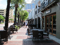Sidewalk cafes on 2nd Street.