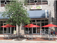 The Pita Pit, sidewalk cafe at Riverfront.