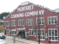An old cannery, now taken over by tourist shops, at Cannery Row.