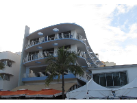 Some of the Art Deco buildings were built to look like cruise ships.