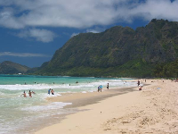 Waimanalo Bay Recreation area.