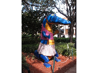 Another colorful alligator sculpture.