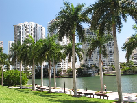 Waterfront behind 701 Brickell Ave.