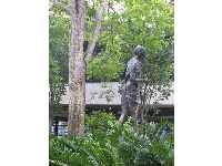 The Ghandi sculpture in the Peace Memorial Courtyard.
