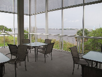 View of St John's River from Marine Science building.
