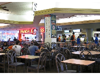 Food court by the bookstore.