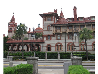 Looking back at Flagler College from the Lightner Museum.