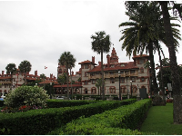 Flagler College, as seen from the Lightner Museum lawn.