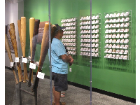 Baseball exhibit.