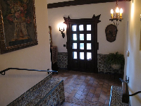 Inside the house.
